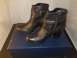 NIB Cole Haan Rhinecliff Bootie Ankle Boots Black Leather Size 9B US W02... - $96.92