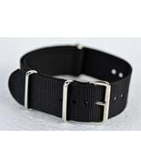 24MMBlack Nylon Watch Strap, Military-Style Nylon Band 3 Ring - $5.94