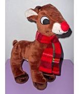 Rudolph Red Nosed Reindeer Dan Dee Plush Stuffed Animal Scarf Christmas ... - $9.31