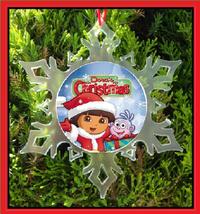 DORA THE EXPLORER CHRISTMAS ORNAMENT - X-MAS SNOWFLAKE ORNAMENT  - $12.95