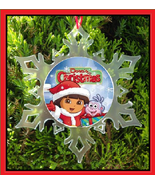 DORA THE EXPLORER CHRISTMAS ORNAMENT - X-MAS SNOWFLAKE ORNAMENT  - $12.95