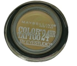 New Maybelline Eye Studio Color Tattoo 24 Hour Eyeshadow Shady Shores #2... - $8.91