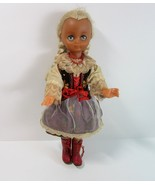 """Vintage 1950's Polish Folk Art 14"""" Doll in Traditional Costume of Poland - $14.99"""