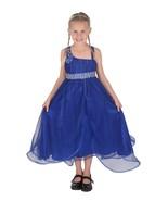 Cinda Dark Blue Flower Girl Bridesmaid Pageant Dress Party Dress 12 M- 1... - $18.93+