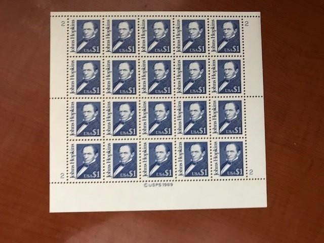 USA United States Hopkins $1 sheet mnh 1989   stamps