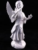 "Vintage Dresden Germany Porcelain Angel w/Flute Figurine  7 1/4"" Unusual... - $14.90"