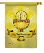 My Holy Communion - Impressions Decorative House Flag H103065-P3 - $33.97