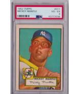1952 Topps Mickey Mantle #311 PSA 4 P625 - $42,000.00