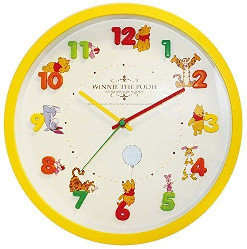 New Disney Wall Clock Icon Analog Display Winnie the Pooh Arias  Japan