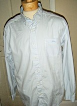 TOMMY BAHAMA RELAX MENS PALE BLUE COTTON LONG SLEEVE SHIRT SIZE L - $38.69