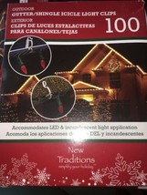 gutter shingle icicle light clips 100 new traditions - $17.82