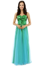 Cheap Long Green Prom Dresses with Sequins,Formal Evening Party Dress Plus size  - $159.00