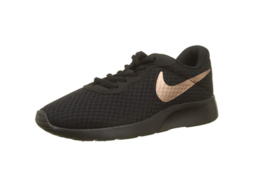 NIKE TANJUN BLACK COPPER SNEAKERS SHOES US WOMENS SZ 5 WALKING RUNNING W... - $26.73