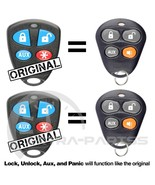 2 New Replacement Automate 4Btn Keyless Entry Remote Car Key Fob For EZS... - $29.65