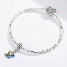 Mermaid Silver Charm Genuine 925 Sterling Silver Pendant Fits Pandora Bracelet image 3