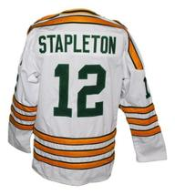 Pat Stapleton #12 Chicago Cougars Retro Hockey Jersey New White Any Size image 2