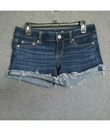 American Eagle Low Rise Women's Shorts - Size 4  Raw Hems Stretch - $16.00