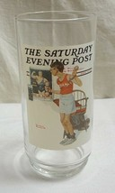 "1987 NORMAN ROCKWELL Arby's 6"" THE CHAMP Glass #4 of 6 of SEP Series MINT - $10.76"