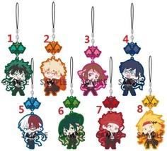 My Hero Academia Boku no Hero Akademia Keychain Rubber Strap Bag Charm - $5.92+
