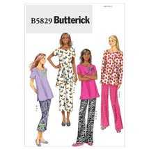 Butterick Patterns B5829 Misses' Top, Pants, Slippers and Bow, Size Y (XSM-SML-M - $14.70