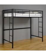 Walker Edison BTOLBL Metal Twin Loft Bunk Bed Black - $229.00