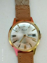 Cariole vintage mechanical movement 15 jewels swiss watch - $35.38