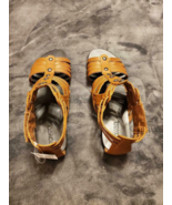 TAN STUDDED BONGO SANDALS - BRAND NEW WITH TAG - $25.00