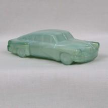 Boyds Crystal Art Glass 1948 Tucker Torpedo Car, #26 Aqua Diamond, Green Slag Gl - $35.00