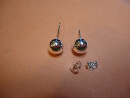 Silver Plated Ball Studs Combined Shipping !!! (1363) - $2.15
