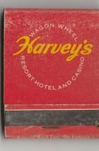 Vintage Strike on Matchbook of Harvey's Wagon Wheel Resort Hotel & Casin... - $9.89