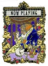 Disney Beauty and the Beast JDS Walt Disney 100th Year Classics Now Playing pin - $18.95