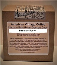 Bananas Foster flavored Dessert Coffee 10 Medium Bold Roasted K-Cups - $9.21