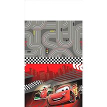 "Disney Cars Formula Racer Birthday Party Table Cover, Gray/Bright Red , 54"" X 96 - $9.99"