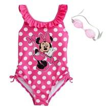 NWT Girls 4-6X Disney Minnie Mouse Pink Polka Dot 1 Piece Swimsuit Swim ... - $16.99