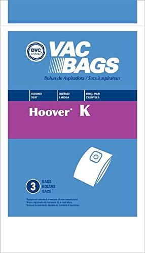 Primary image for DVC Hoover Style K Vacuum Cleaner Bags Made in USA [ 3 Bags ]