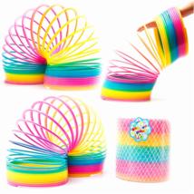 Rainbow Magic Coil Spring Bounces Slinky Jumbo Huge Kids Toy Gift Fun Ce... - $25.17