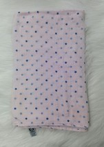 Gerber Swaddle Blanket Cotton Muslin Security Baby Pink w Blue Stars B350 - $13.06 CAD