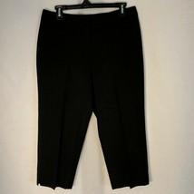 Talbots Womens Size 10P Petite Dress Pants Capris Black Heritage Fit Cro... - $14.98
