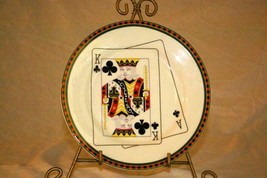 American Atelier Casino King Of Clubs Salad Plate - $4.15