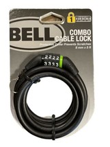 Bell Combo Cable Lock Bike Lock 8mm x 5ft - Green - $10.88