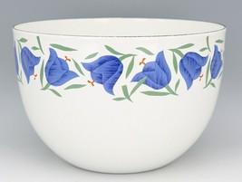 """Vintage Arabia Finland Blue Bell Enamelware 8 3/8"""" Mixing Bowl MINT, Unused image 1"""