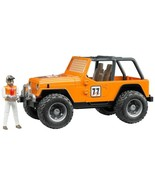 Bruder - 02542 - Jeep Cross Country Racer Vehicle with Driver Orange - $39.54