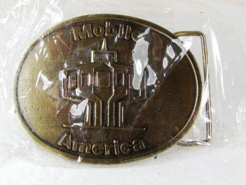 Latón Macizo Móvil América Cinturón Hebilla por Siskiyou 22816 Menta en Plástico