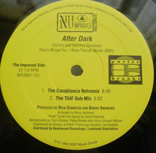 PATTIE BROOKS After Dark /Sweet Temptation  -Nu & Improved Records NIR3901-122