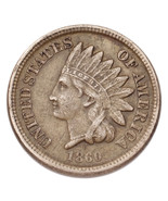 1860 Rounded Bust Indian Head Cent 1C Penny (Extra Fine, XF Condition) - £44.51 GBP