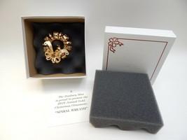 Danbury Mint Annual Spiral Wreath 2010 Christmas Ornament New Condition - $24.74