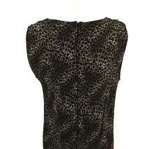 KSL Karin Stevens Sleeveless Maxi Dress and Jacket Size 14W Brown Animal Print image 10