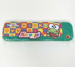 NEW in Package Vintage 1997 Sanrio Keroppi Green Metal Pencil Case Stati... - $45.52