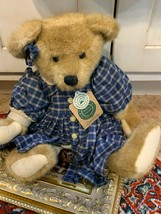 """Boyds Bear Jointd Courtney Plaid Blue Dress 1364 16"""" Archive Collection 1997 - $22.46"""