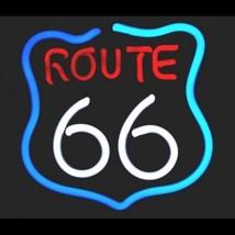 """Neon Route 66 Sculpture Wall Bar Art Sign Decor  12"""" x 12"""" - $89.99"""
